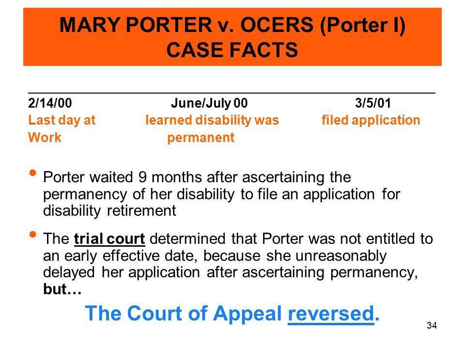 34 MARY PORTER v.