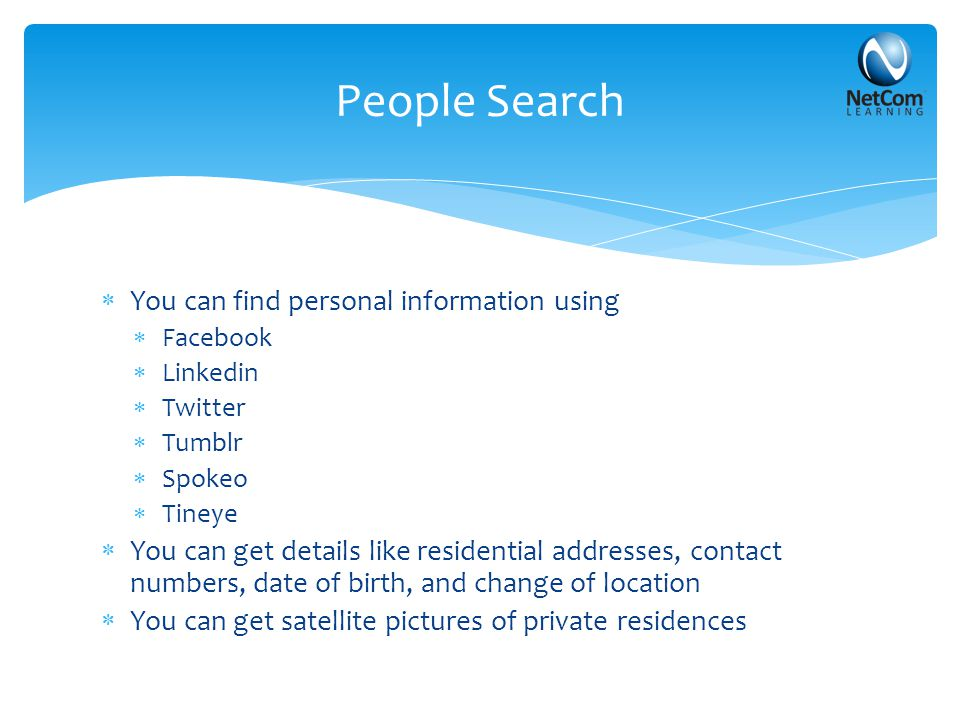 People Search Website