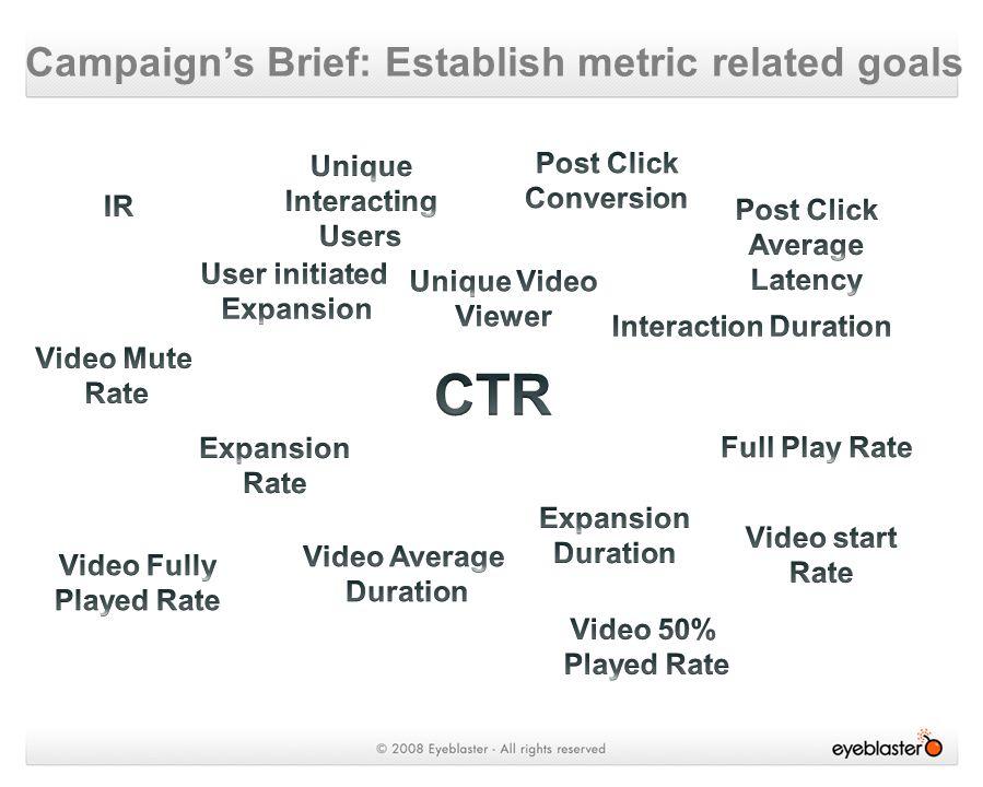 Campaign's Brief: Establish metric related goals