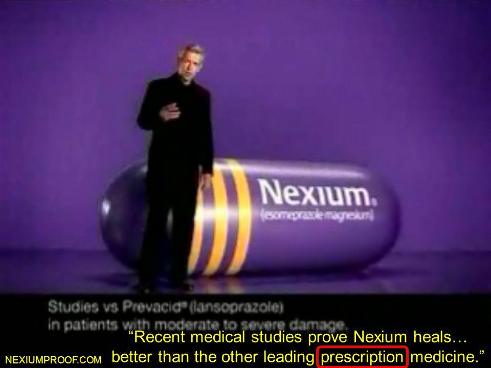 """Nexiumproof.com NEXIUMPROOF.COM """"Recent medical studies prove Nexium heals… better than the other leading prescription medicine."""""""