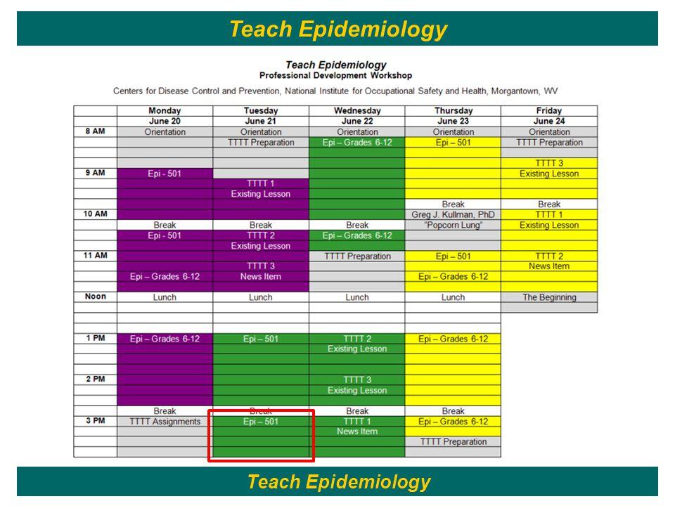 122 Teach Epidemiology