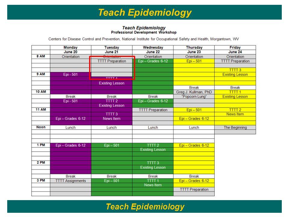 32 Teach Epidemiology
