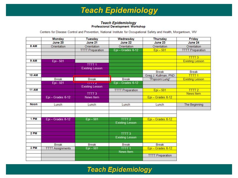 41 Teach Epidemiology