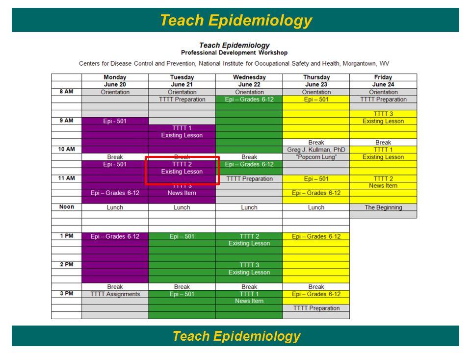 44 Teach Epidemiology