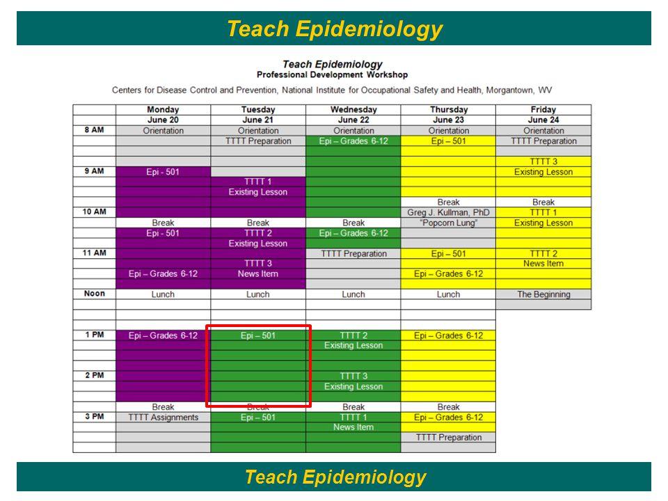60 Teach Epidemiology