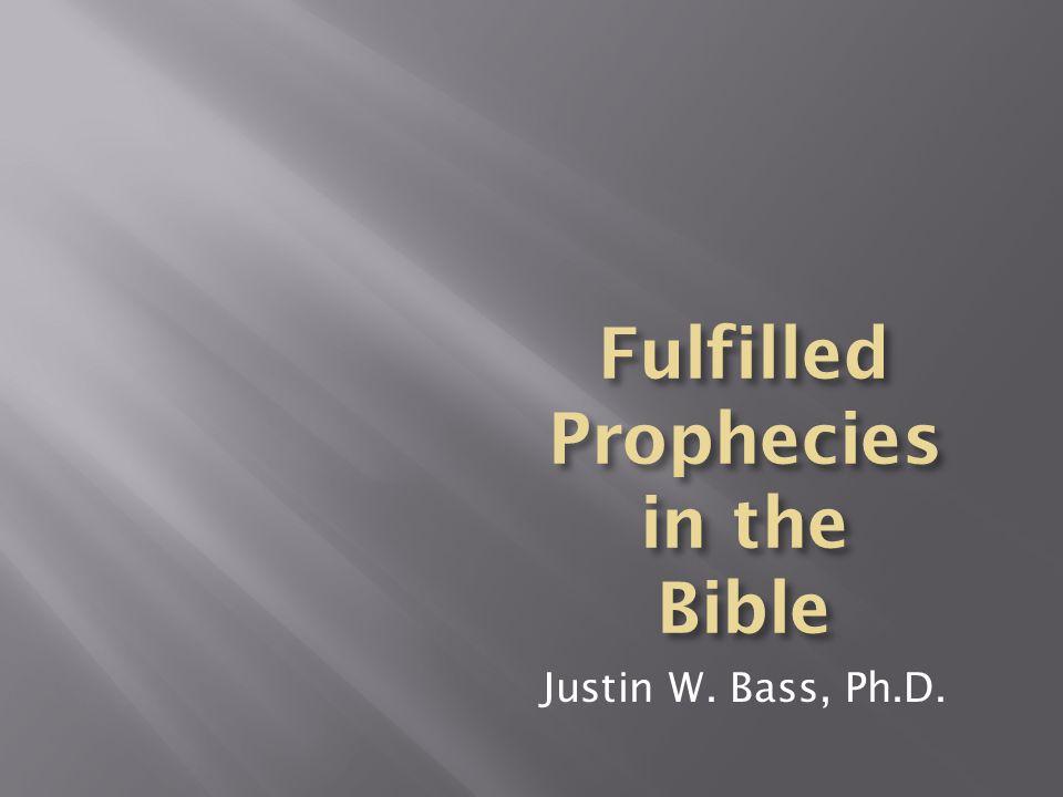 Justin W. Bass, Ph.D.