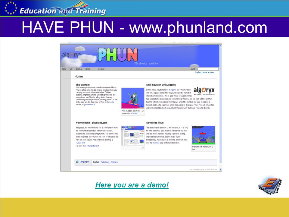HAVE PHUN - www.phunland.com Here you are a demo!