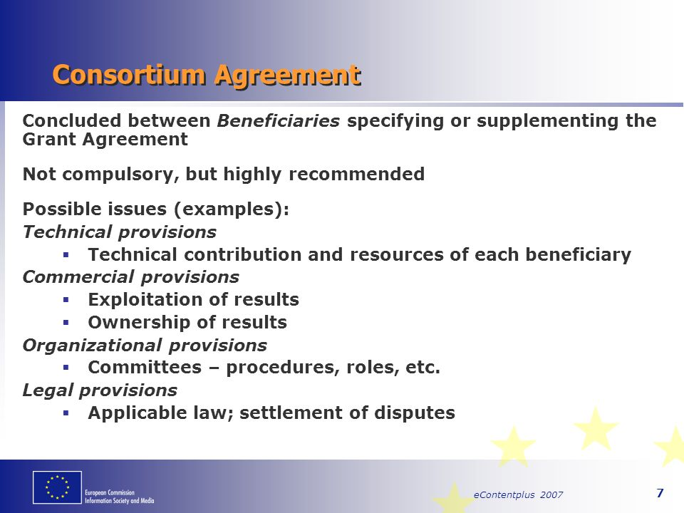 eContentplus 2007 28 Reviews – Financial Audit Financial audit to ascertain eligibility of  costs and  working time charged to agreement Keep project accounts and time sheets for at least 5 years after agreement completion date Keep project accounts and time sheets for at least 5 years after agreement completion date
