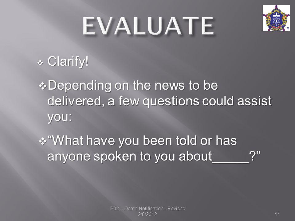  Clarify.