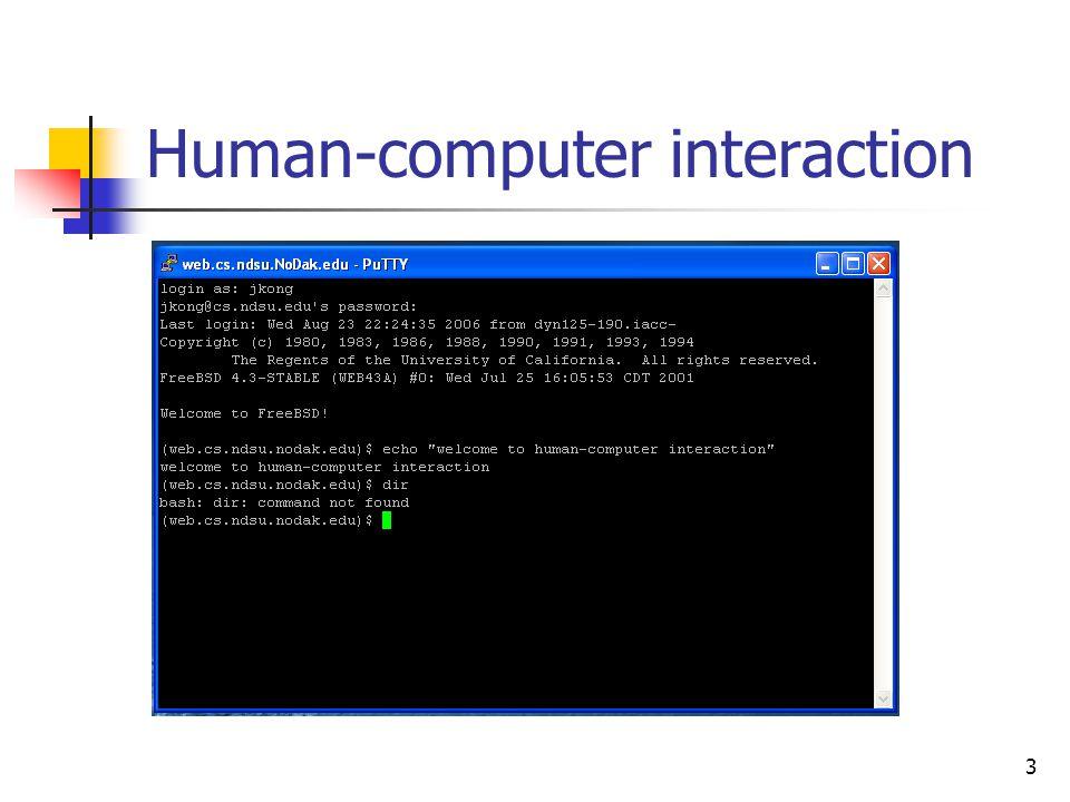 3 Human-computer interaction