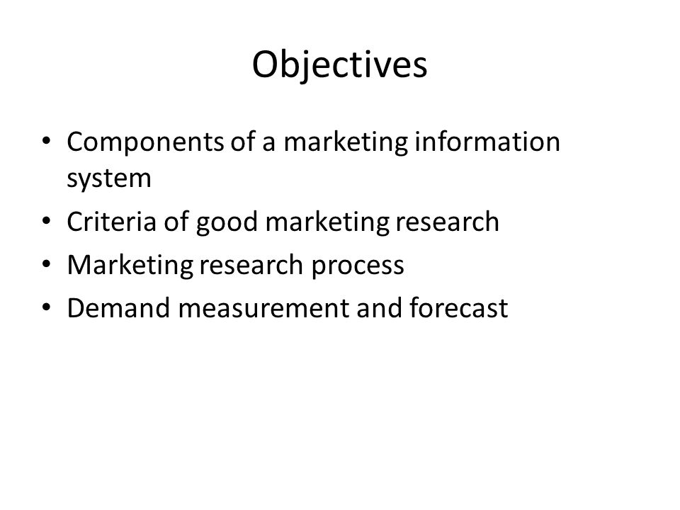 Topic Four: Marketing Research