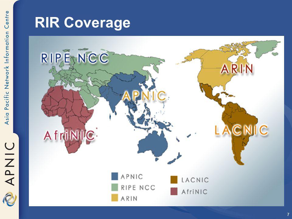 7 RIR Coverage