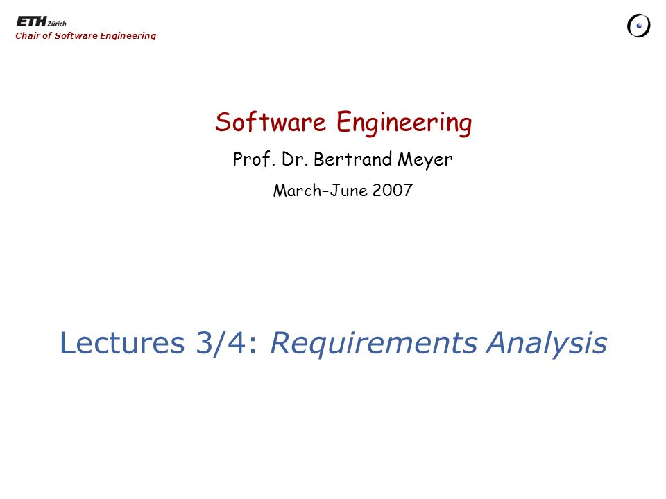 Software Engineering Prof. Dr.