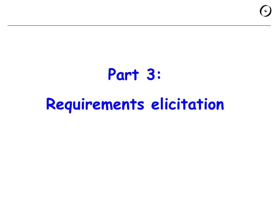 Part 3: Requirements elicitation