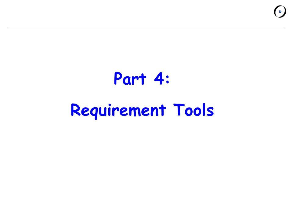 Part 4: Requirement Tools