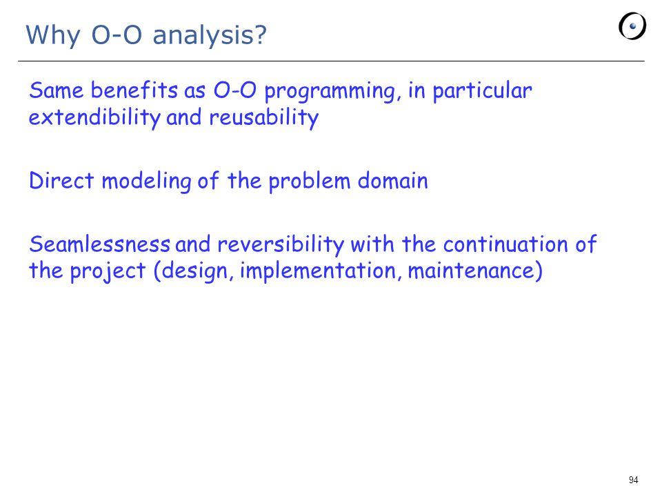 94 Why O-O analysis.