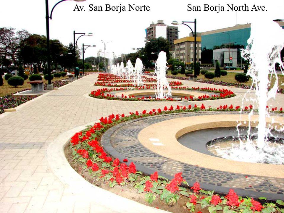 Maratonistas cruzando San BorjaThe Marathon crossing San Borja