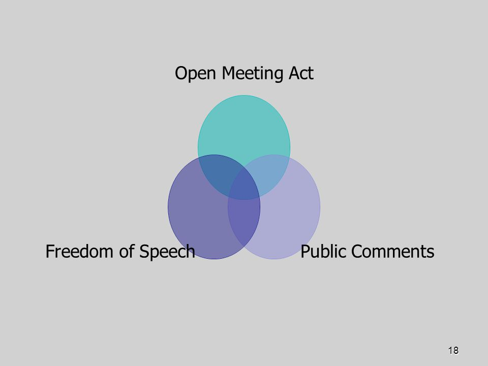 18 Open Meeting Act Public Comments Freedom of Speech
