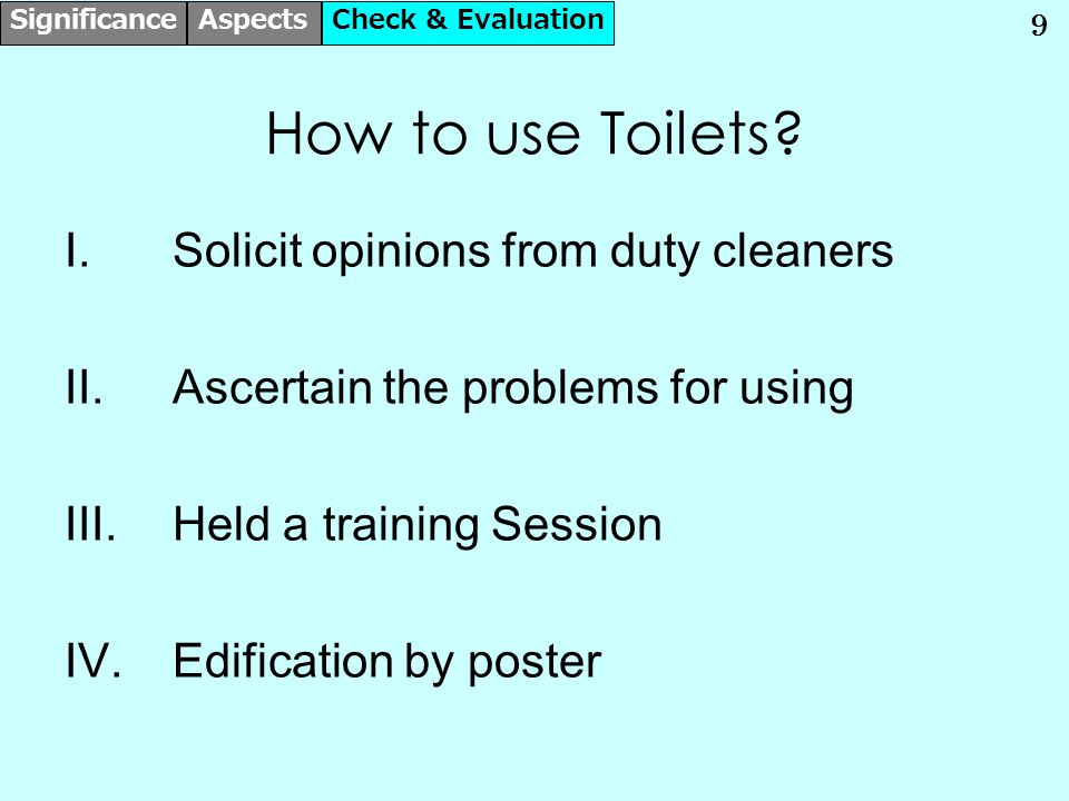 10 How many Toilets are needed.