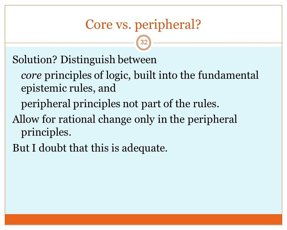 Core vs.peripheral. 32 Solution.