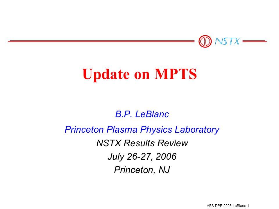 APS-DPP-2005-LeBlanc-12 Polychromator 206 Focal decentration