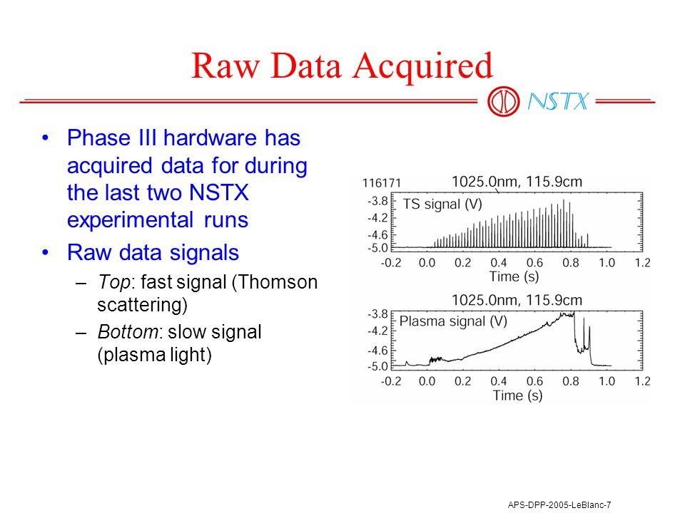 APS-DPP-2005-LeBlanc-8 Data Analysis 30-channel vs.