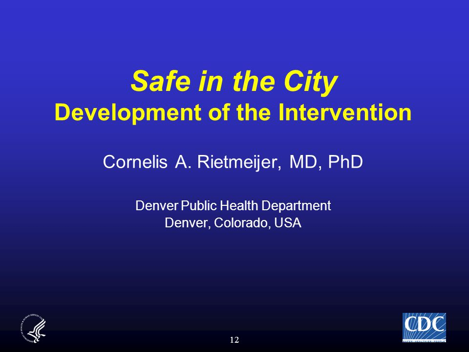 12 Safe in the City Development of the Intervention Cornelis A.