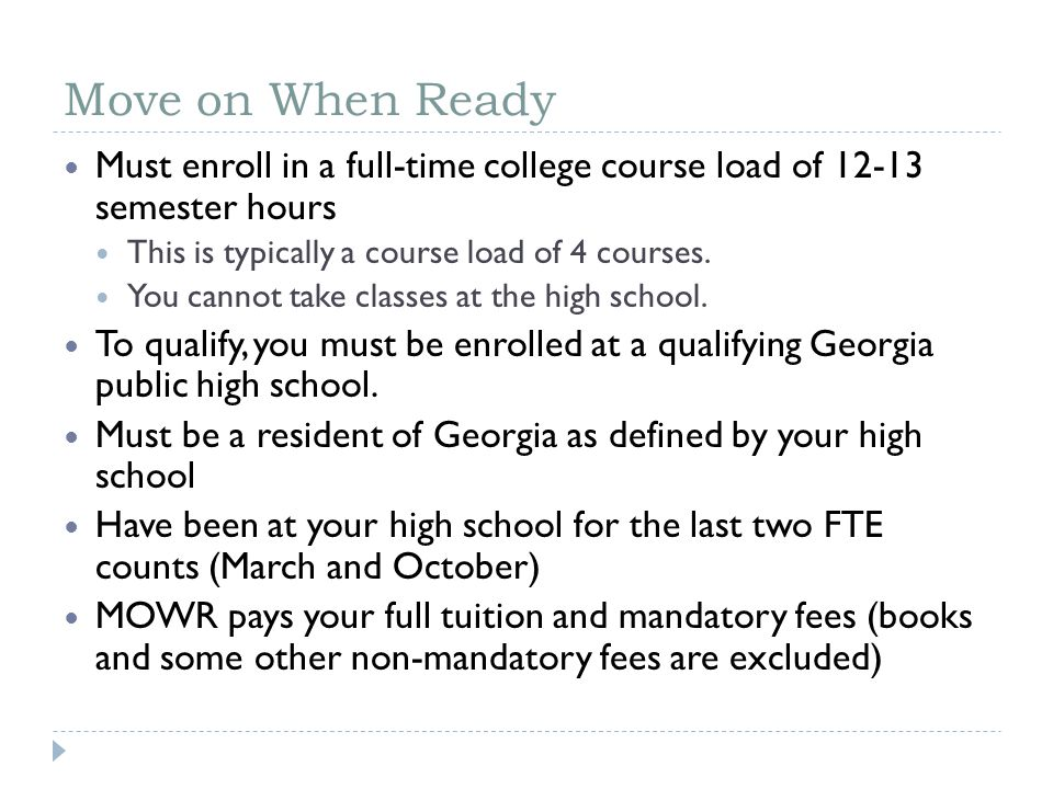 Benefits of dual enrollment  Earn college credit while still in high school.