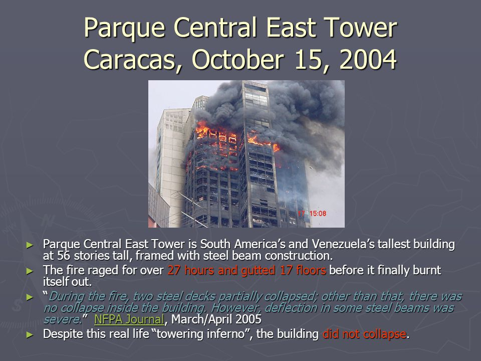 Parque Central East Tower Caracas, October 15, 2004 ► Parque Central East Tower is South America's and Venezuela's tallest building at 56 stories tall