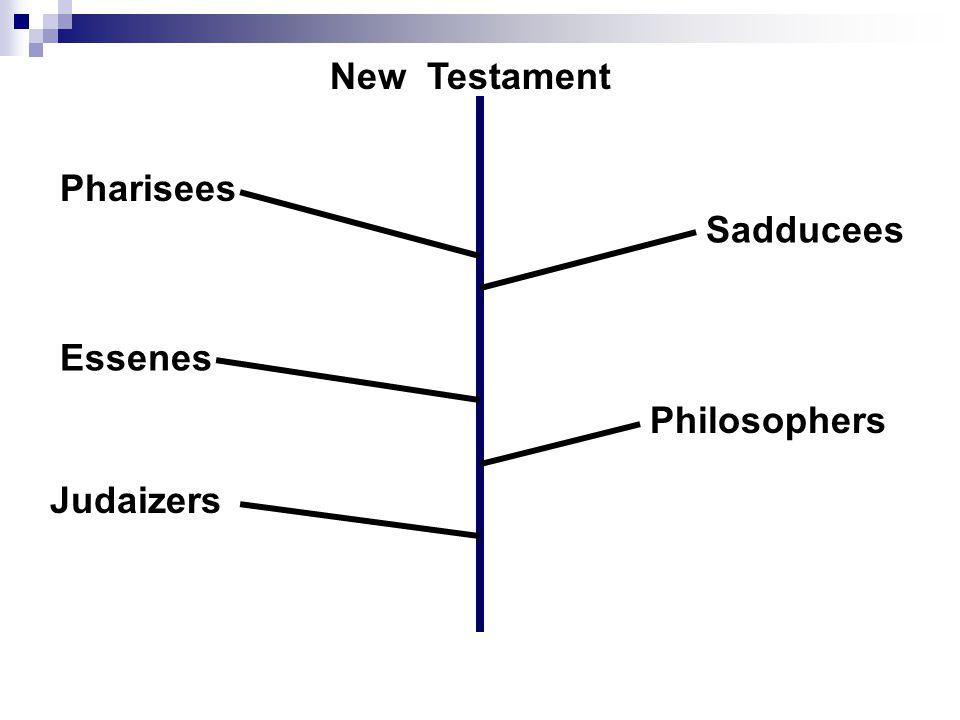 Pharisees Sadducees Essenes Philosophers Judaizers New Testament