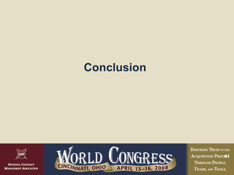 41 Conclusion