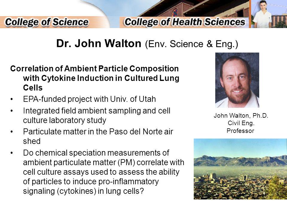 Dr. John Walton (Env.