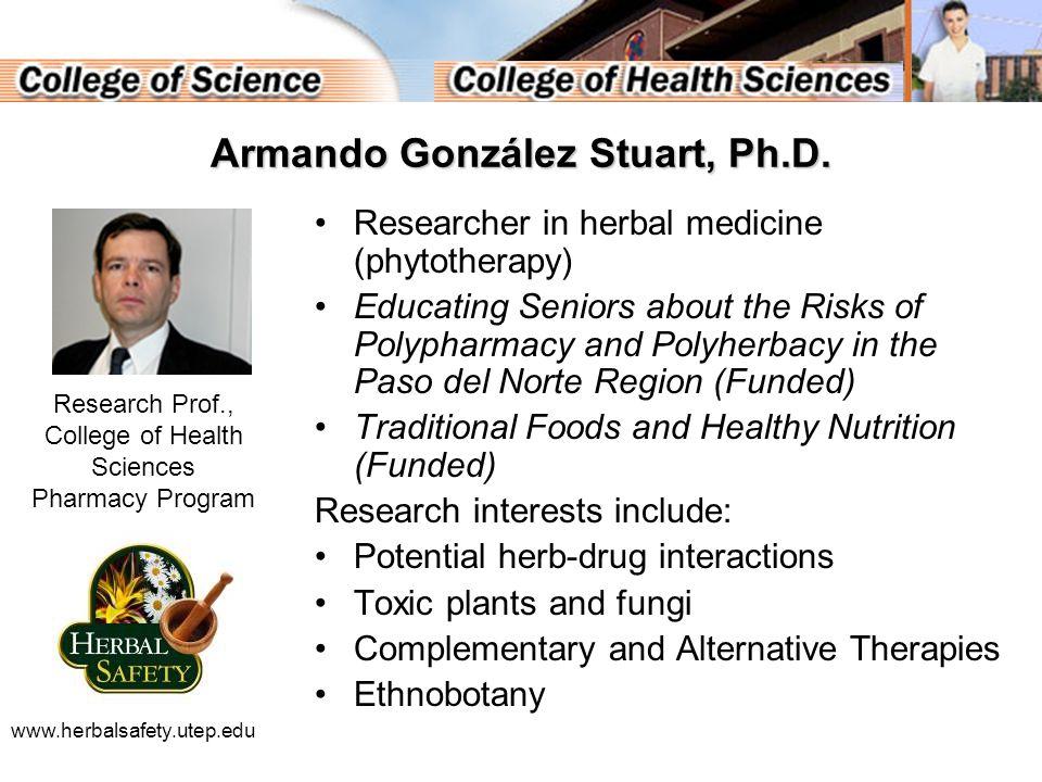 Armando González Stuart, Ph.D.