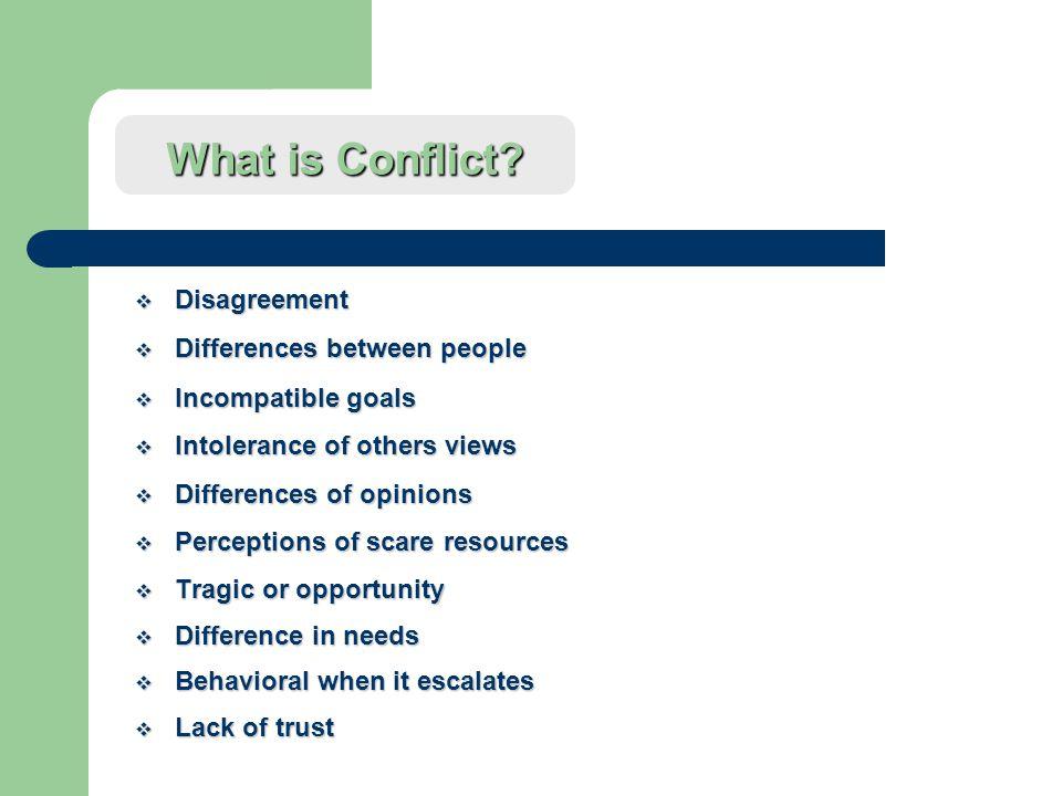 Handling Conflict in the Department