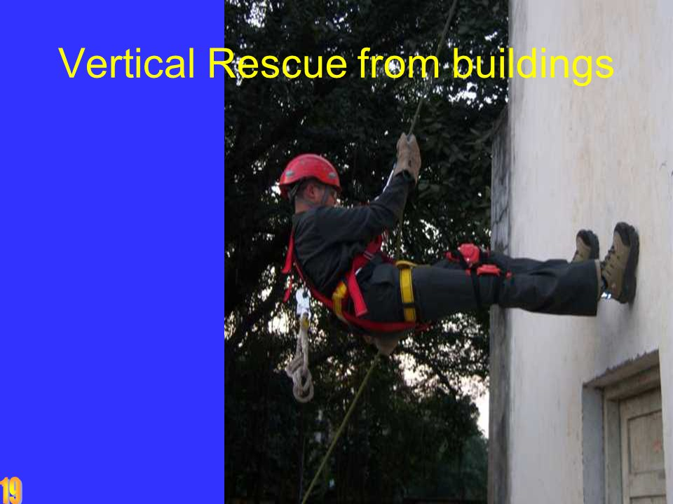 Vertical Rescue from buildings