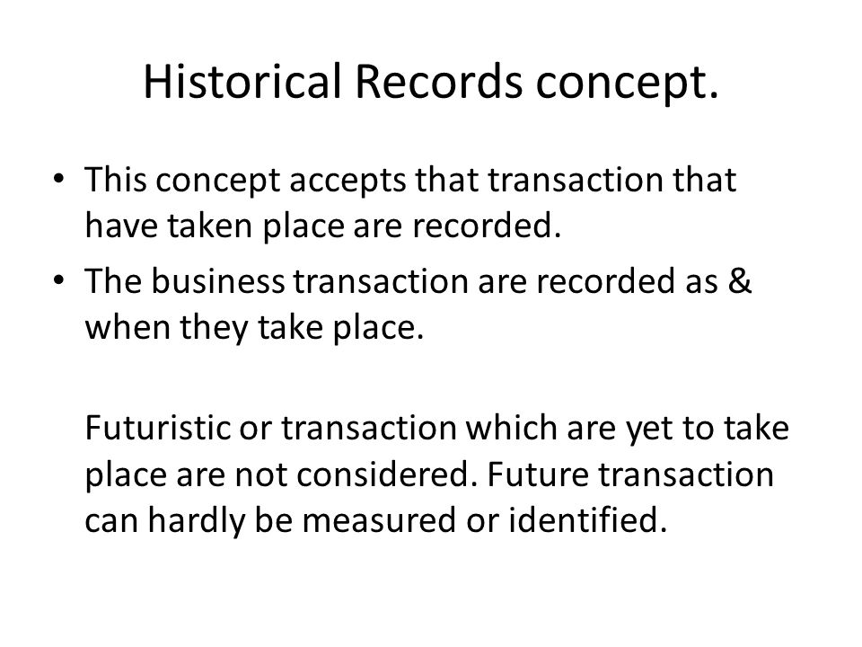 Historical Records concept.