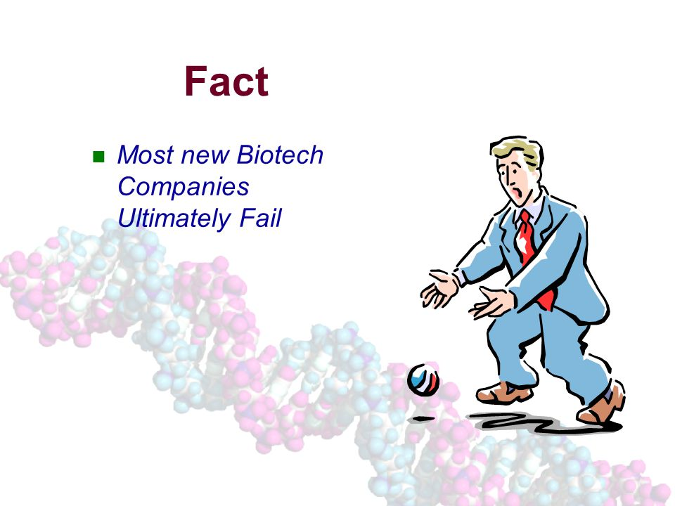 Fact Most new Biotech Companies Ultimately Fail