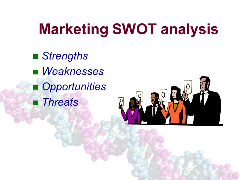 Marketing SWOT analysis Strengths Weaknesses Opportunities Threats