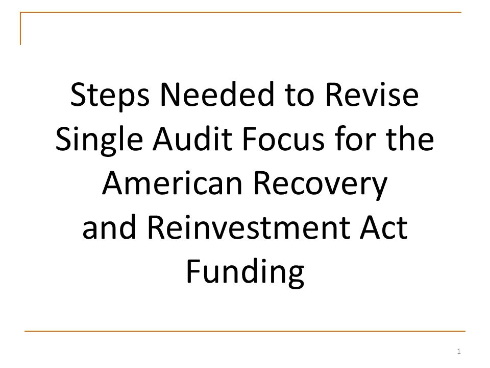 22 Session Objectives Discuss GAO's Recovery Act mandates and reports Discuss how the Recovery Act could impact single audit work and reporting in the future