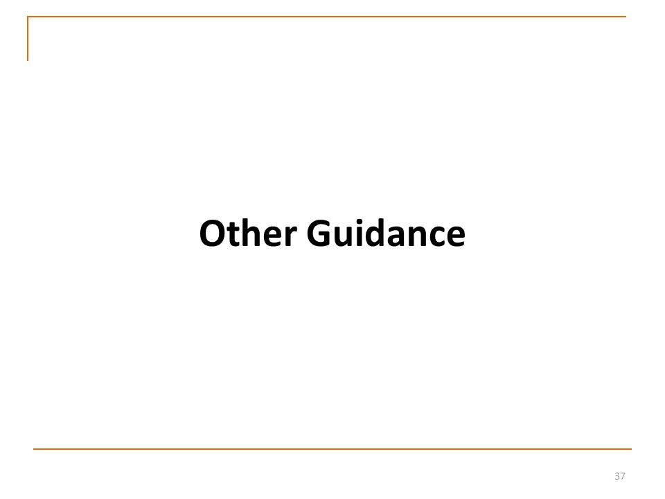 37 Other Guidance
