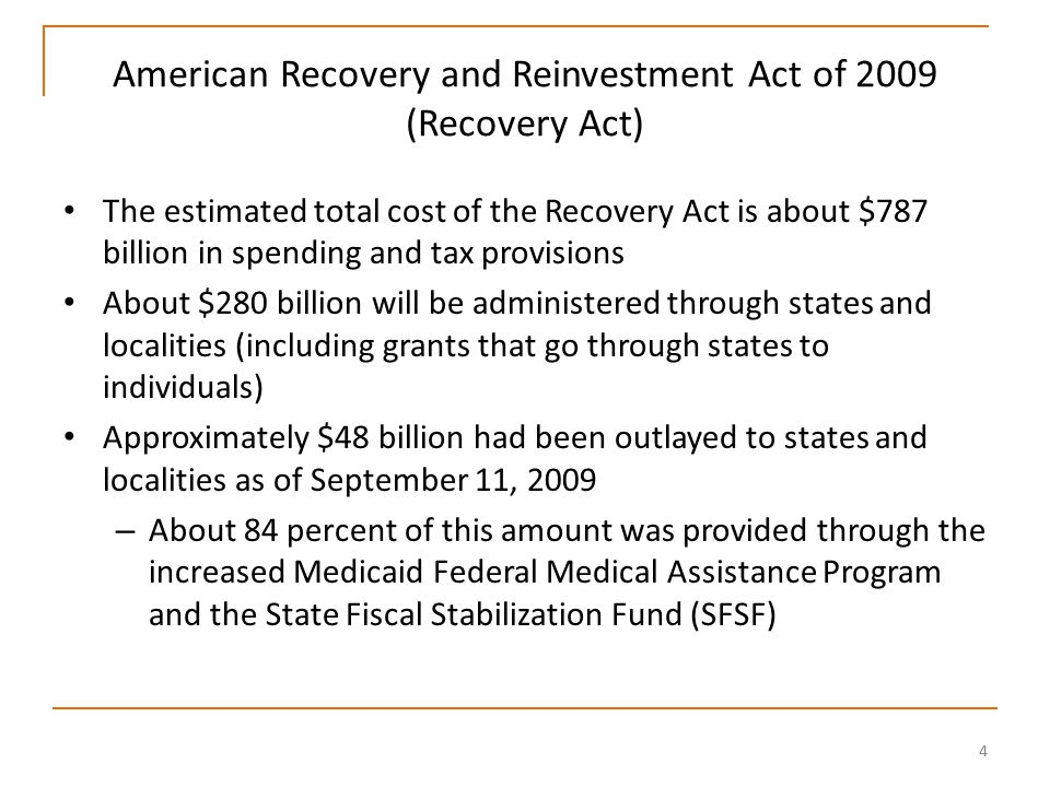 55 Use of Single Audit Reports in Recovery Act Oversight Non- Federal entities are required to have an annual audit of their Federal awards OMB announced that OMB Circular A-133 Compliance Supplement will notify auditors of compliance requirements which should be tested for Recovery Act programs Federal Inspectors General are to reach out to auditing profession to ensure single audits are properly performed by – Providing technical assistance and training – Performing quality control reviews Federal Inspectors General also will perform follow-up reviews of Single Audit quality with emphasis on Recovery Act funds