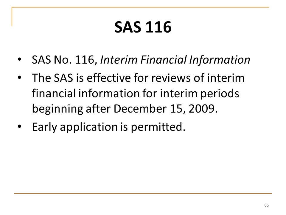 65 SAS 116 SAS No.
