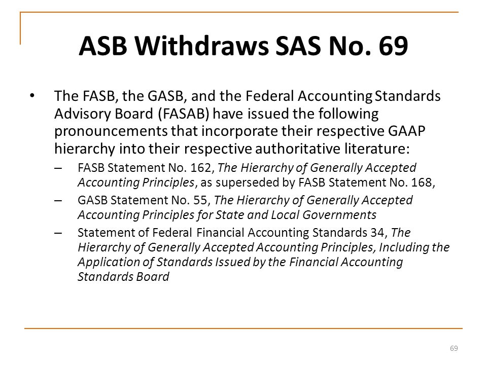 69 ASB Withdraws SAS No.