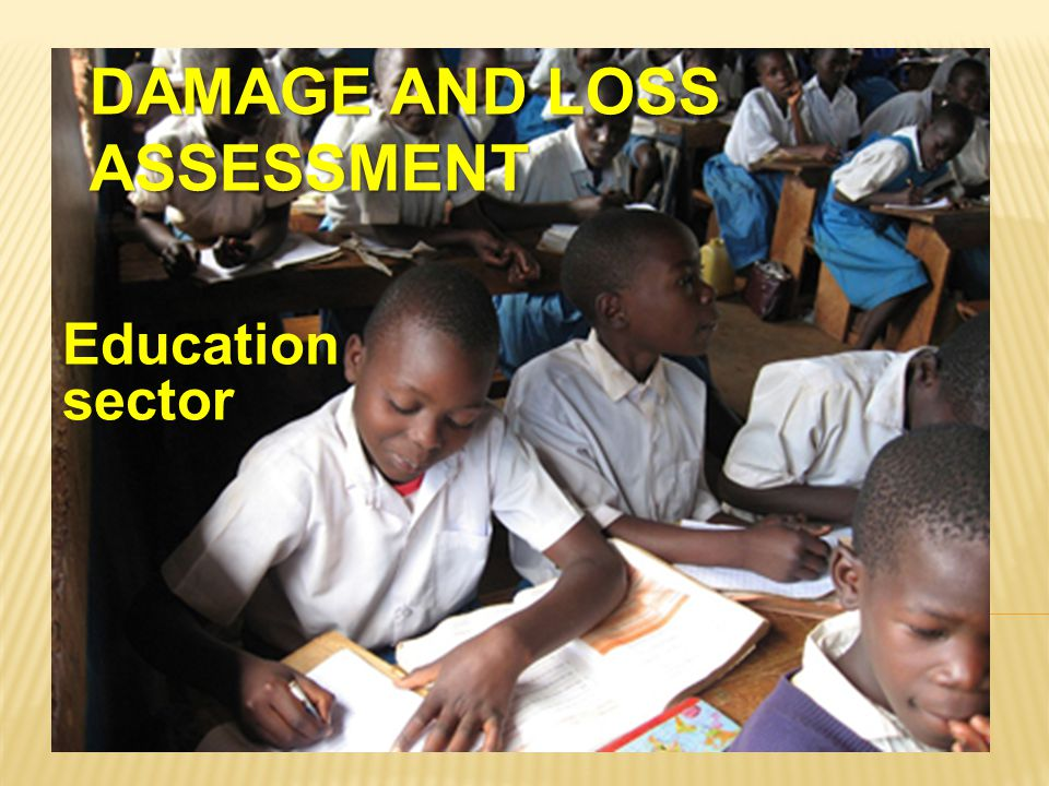 DAMAGE AND LOSS ASSESSMENT Education sector