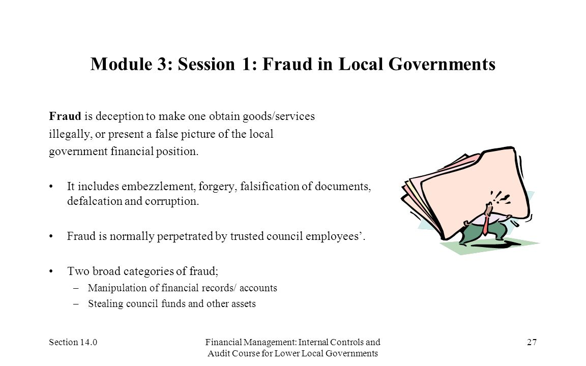 Section 14.0Financial Management: Internal Controls and Audit Course for Lower Local Governments 26 Module 2: session 4: Bodies That Follow-up Audits