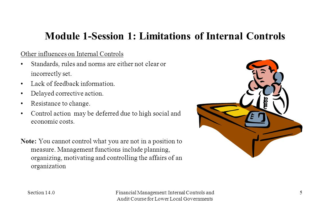 Section 14.0Financial Management: Internal Controls and Audit Course for Lower Local Governments 25 Module 2: Session 4: Audit Report Follow- up Audit reports have to be read and their recommendations implemented.