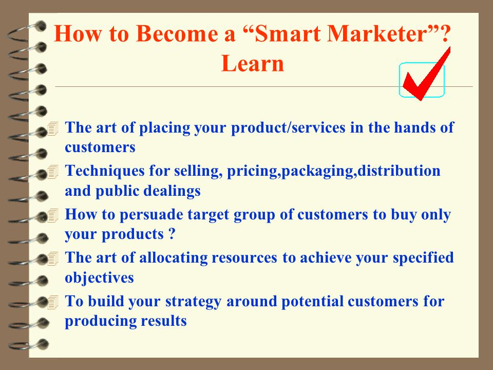 How to Become a Smart Marketer .