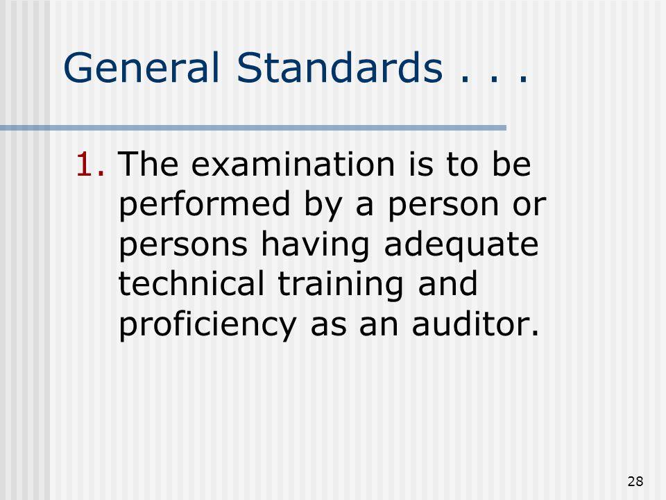 28 General Standards...