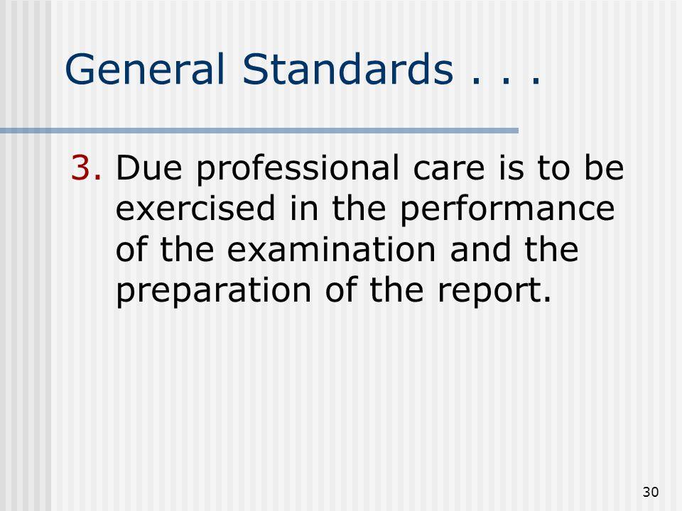 30 General Standards...