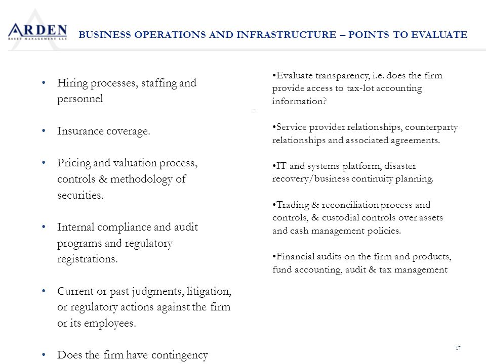 17 Hiring processes, staffing and personnel Insurance coverage.